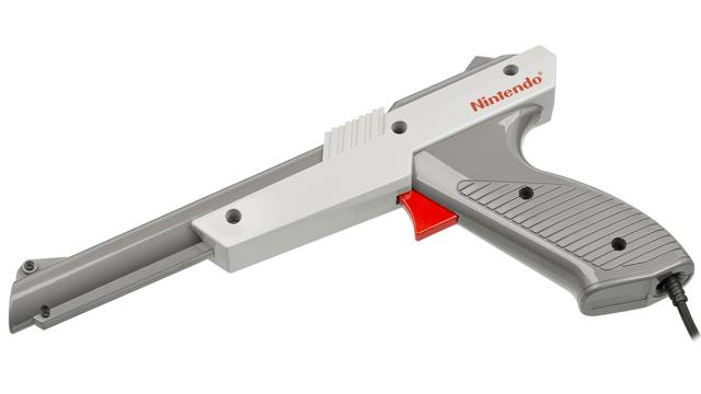 Una pistola Zapper de Nintendo original