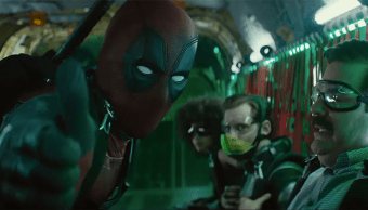 Deadpool con la x Force en una escena de Deadpool 2
