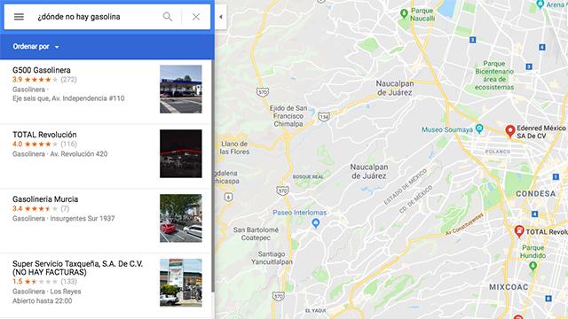 Así es como Google Maps te ayuda a saber dónde hay gasolina