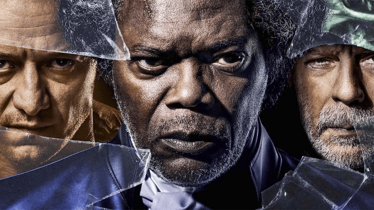 James McAvoy, Bruce Willis y Samuel L. Jackson en Glass