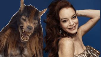 El lobo de BUAP con Lindsey Lohan