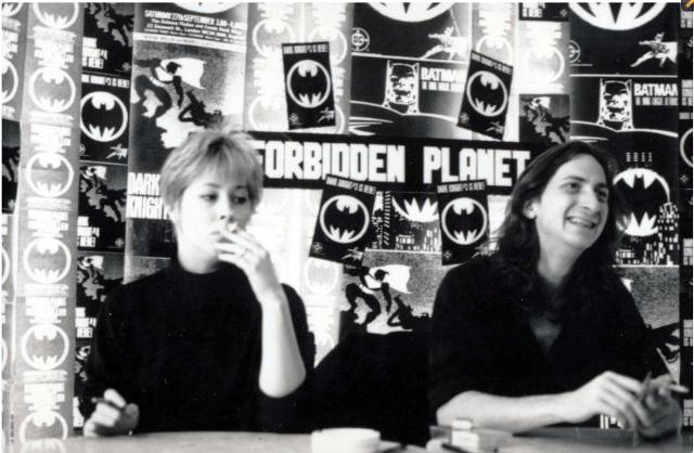 Lynn Varley y Frank Miller en Forbidden Planet (1986)