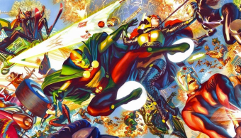 Mr Miracle y Big Barda dibujados por Alex Ross