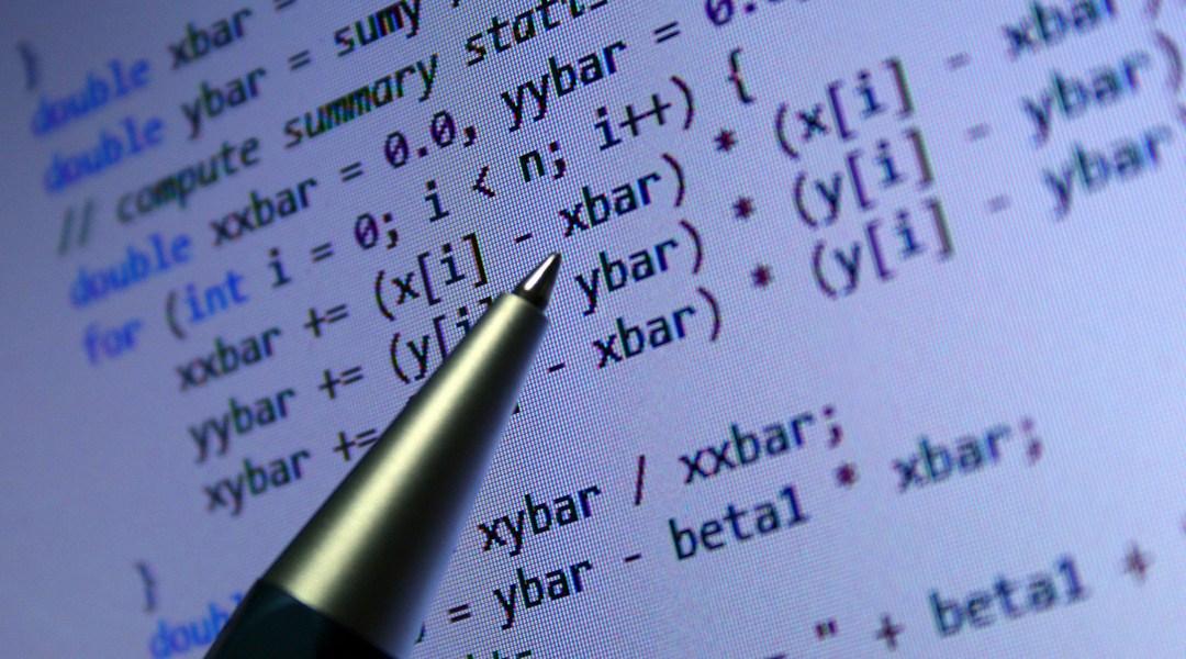 Un algoritmo matemático en una computadora