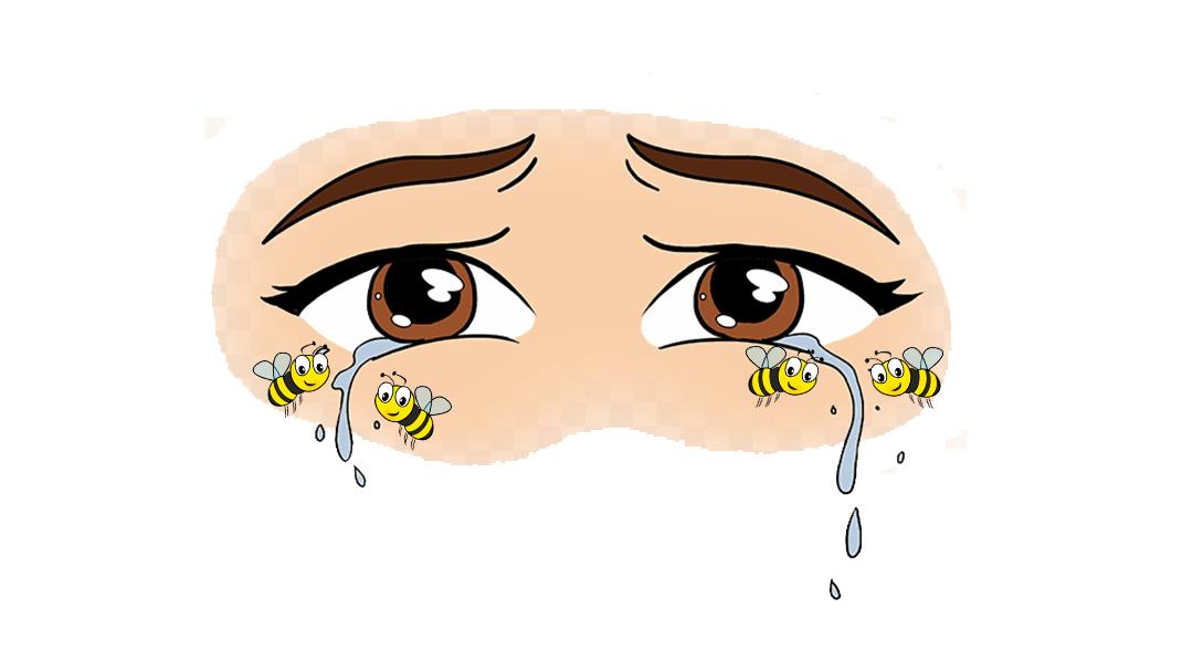 Abejas, Ojo, Lágrimas, China, abejas en ojos de China