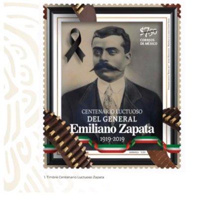 Emiliano Zapata, Boleto Metro, Lotería Nacional, Timbre Postal