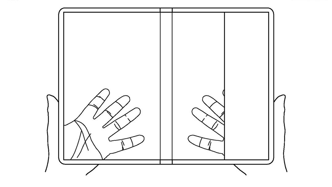 teléfono de LG transparente y plegable