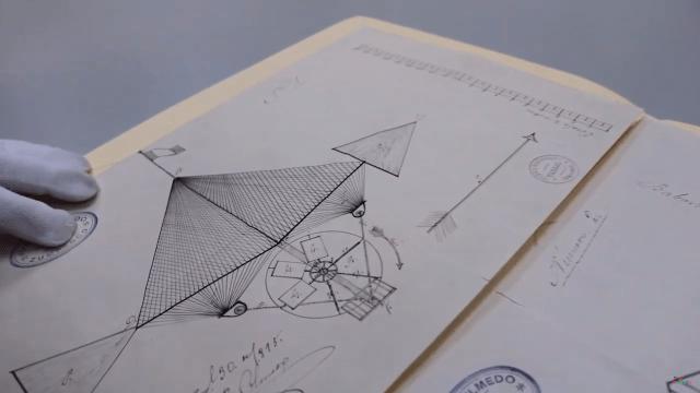 Plano de la aeronave que patentó Juan Francisco Olmedo