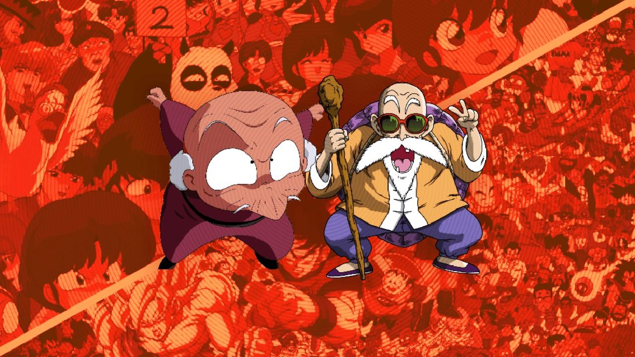 maestros anime roshi luna dragon ball naruto sailor moon