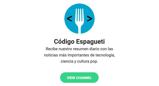 Código Espagueti en Telegram