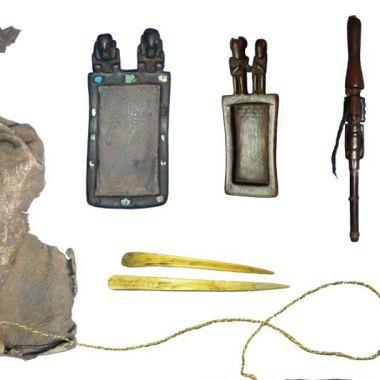 La bolsa con aditamentos para drogarse de la prehistoria