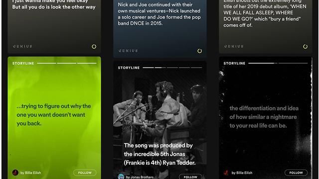 Spotify, Storylines, Instagram, Stories