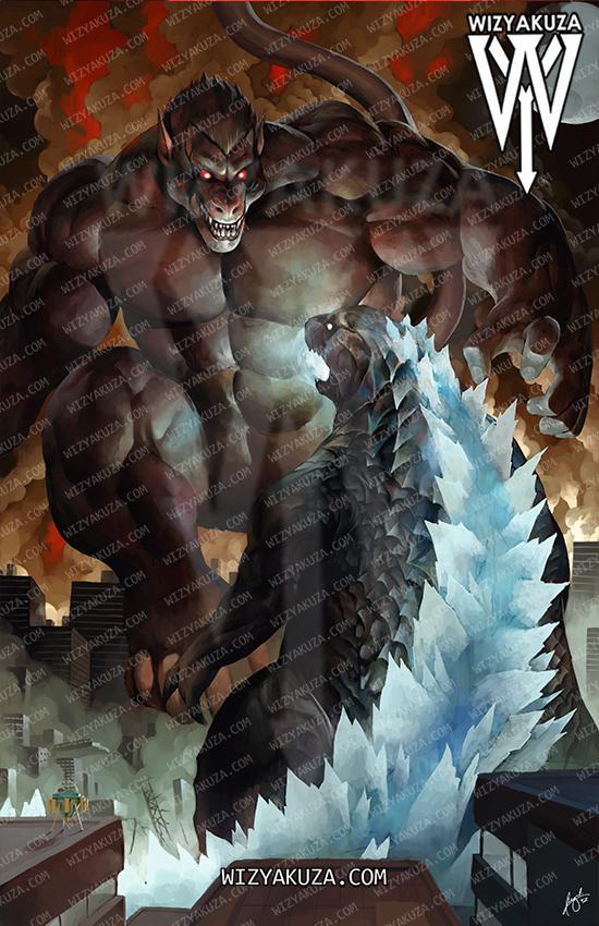 Godzilla, King Kong, Dragon Ball, Saiyajin