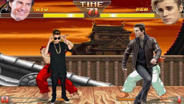 Justin-Bieber-Tom-Cruise-Pelea