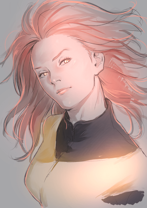 My Hero Academia, Jean Grey, Dark Phoenix, Dibujo