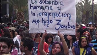 Marcha Zombie en la Ciudad de México