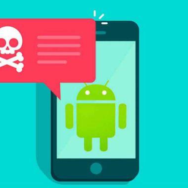Una imagen de android con viruso