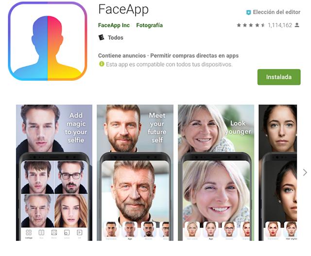 FaceApp Google Play