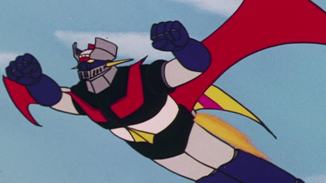 Escena del anime Mazinger Z con el robot