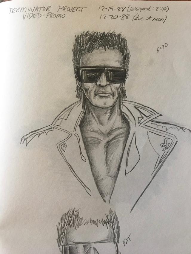 Sketch de Terminator diseñado por Sunsoft.
