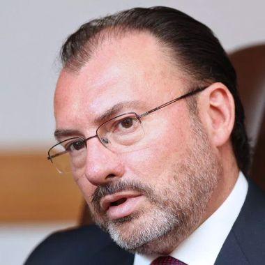 El ex canciller Luis Videgaray en su oficina