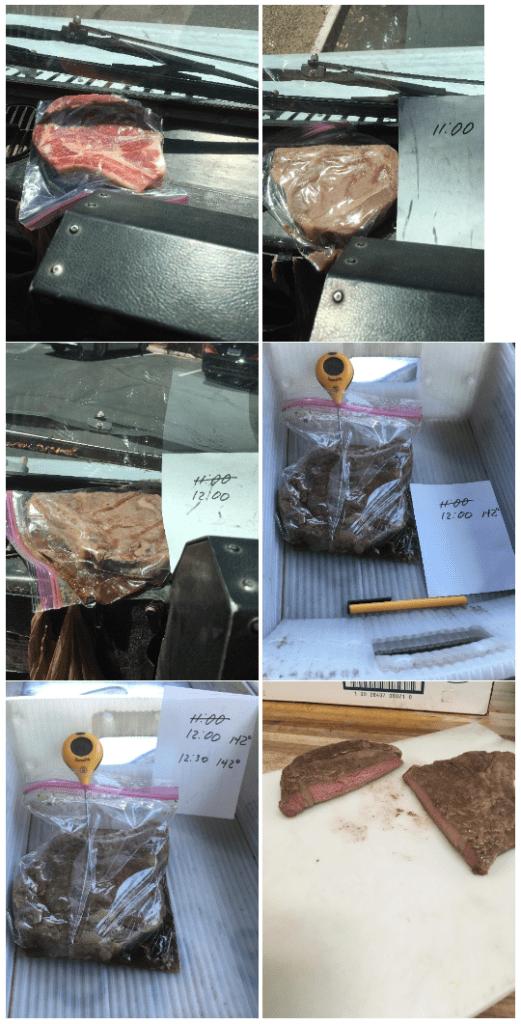 Empleado del Servicio Postal de Estados Unidos coció un bistec en su vehículo