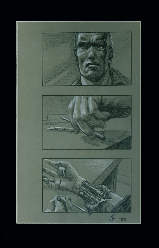 Storyboard de Terminator de James Cameron