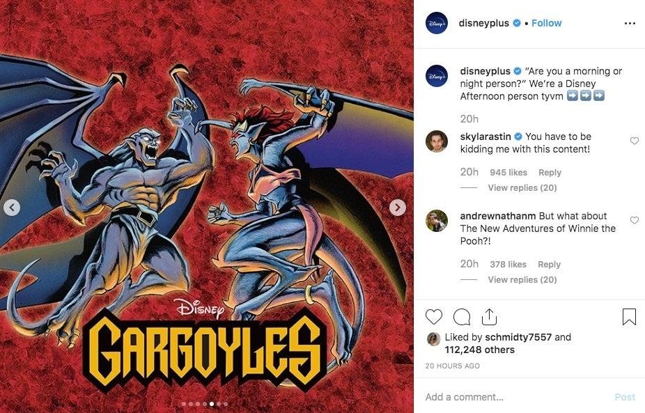 12/09/19, Gárgolas, Serie Animada, Disney Plus, Instagram