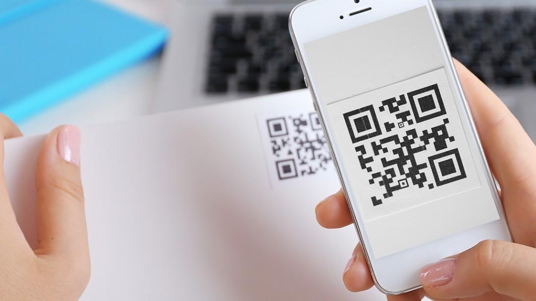 Código QR en la pantalla de un smartphone