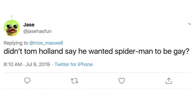 04/09/19, Tom Holland, Spider Man, Gay, MCU