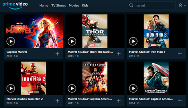 Amazon Prime_ Disney Marvel