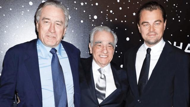 Leonardo DiCaprio, Robert De Niro y Martin Scorsese