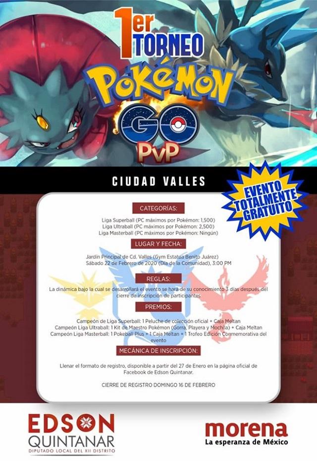 Torneo Pokemon Diputado Morena San Luis Potosí