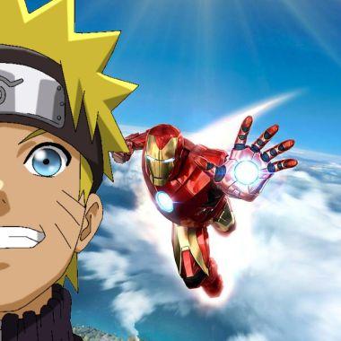 Naruto Uzumaki con Iron Man