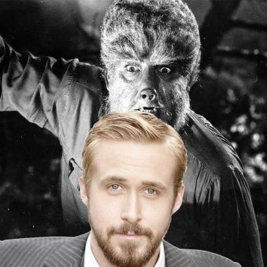 Ryan Gosling con el hombre lobo