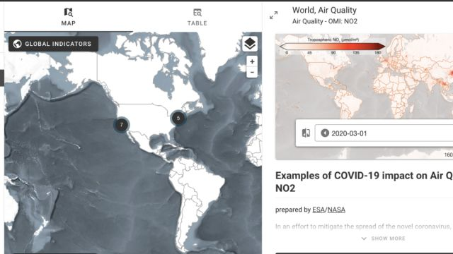 Earth Observing Dashboard