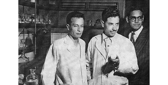 José Iriarte, Jesús Romo y Luis E. Miramontes