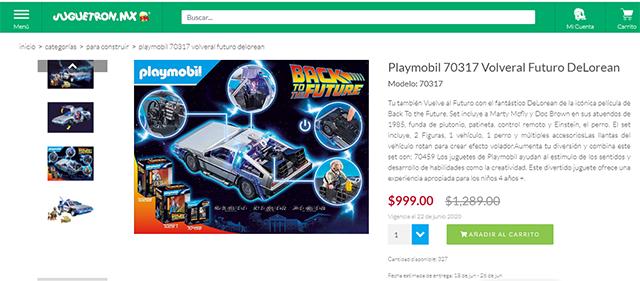 Playmobil de Volver al Futuro en México