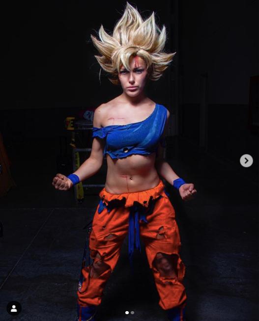 Goku Mujer Dragon Ball Super Saiyajin