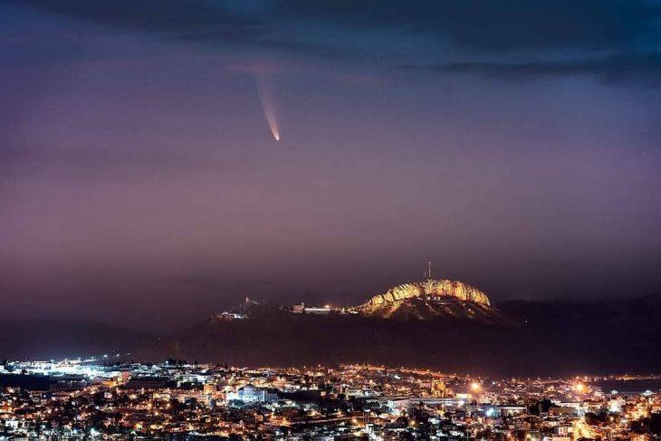 Cometa Neowise visto desde Zacateca