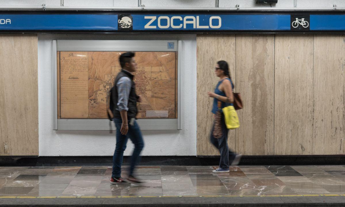 Estación de metro Zócalo cambiará de nombre: ahora será Tenochtitlan
