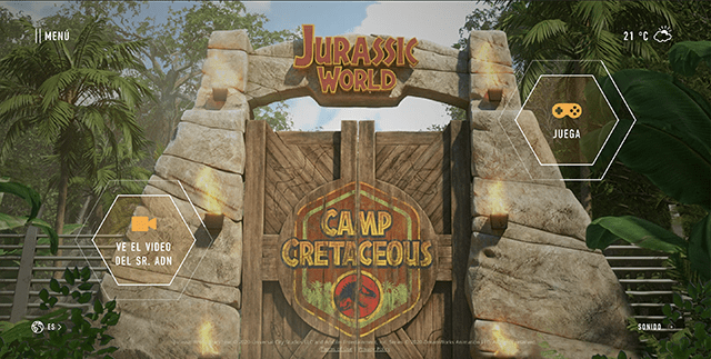 Sitio interactivo de Jurassic World Campamento Cretácico