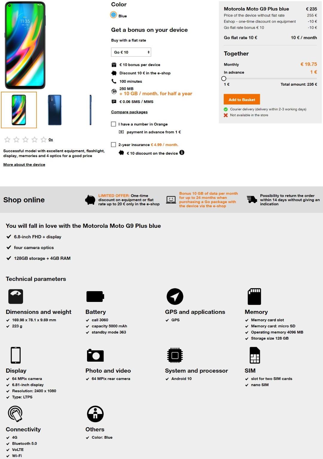 Moto G9 Plus Características