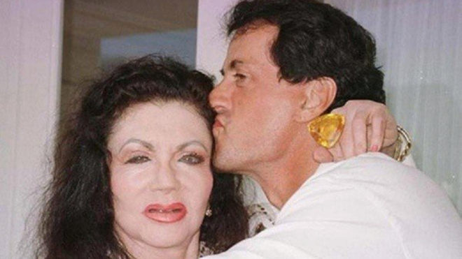 Sylvester Stallone y su madre