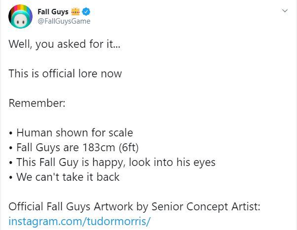 Fall Guys publica arte conceptual oficial del interior de sus personajes