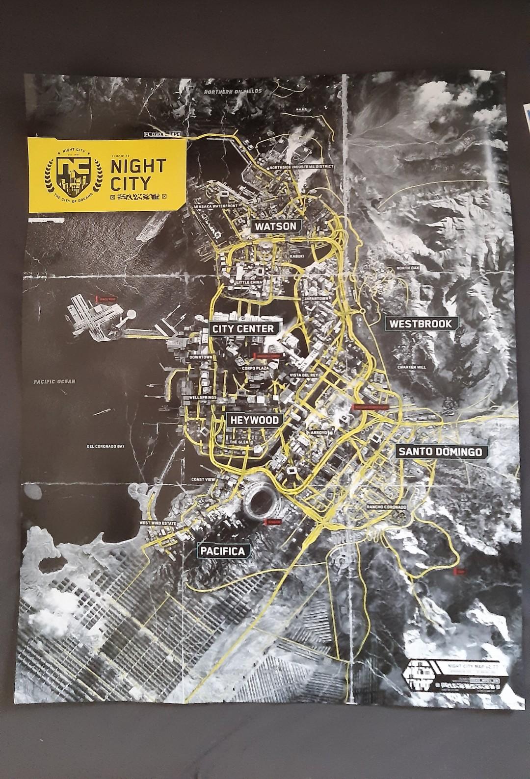 Mapa de Cyberpunk 2077