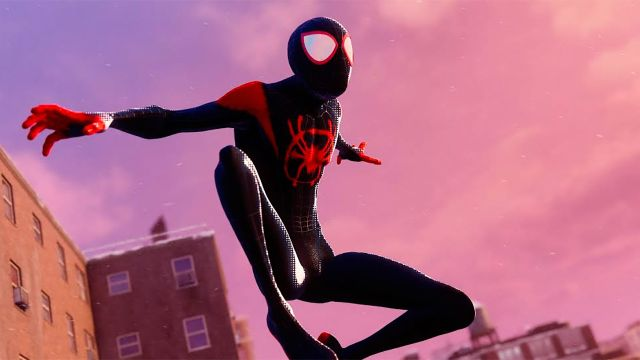 Marvels Spider-Man Miles Morales traje Into The Spider verse