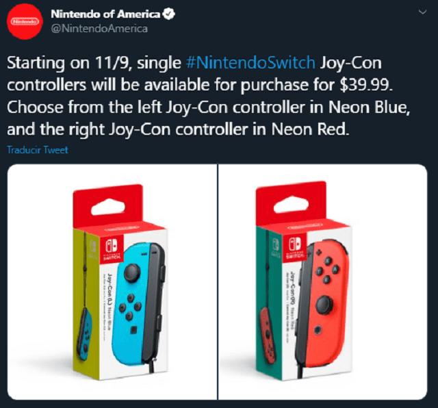 Precio Joy-Con Nintendo Switch