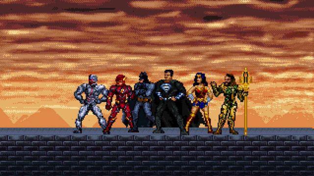 Tráiler Justice League 16 bits