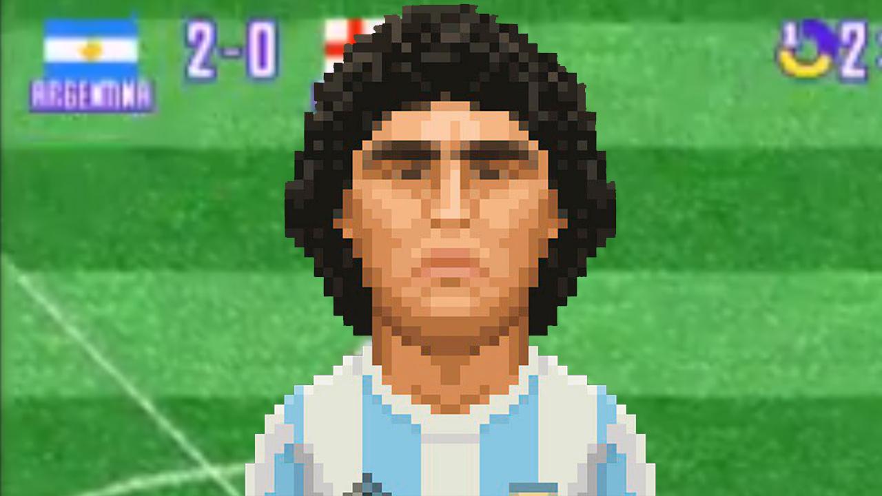 Imagen de Diego Armando Maradona en los videojuegos